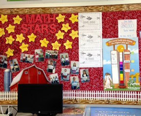Math Stars classroom bulletin boards