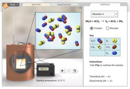 New Gizmo: Reaction Energy | ExploreLearning News