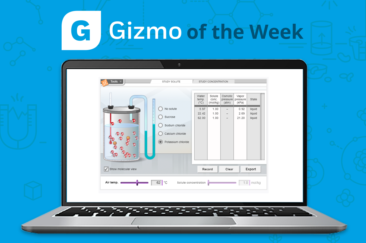 Gizmo of the Week: Colligative Properties ...